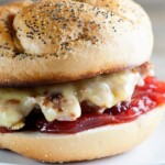 Turkey Cheeseburgers with Cranberry Sauce