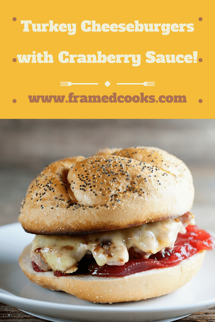 Still haven't gotten Thanksgiving out of your system?  Here's a recipe for turkey cheeseburgers with cranberry sauce to the rescue!