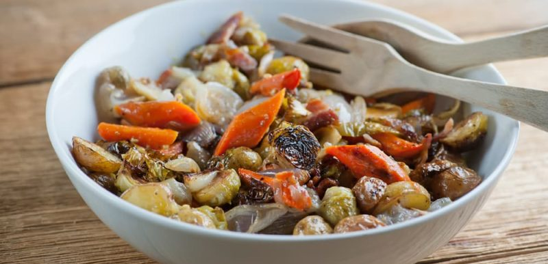 Warm Fall Vegetable Roasted Salad