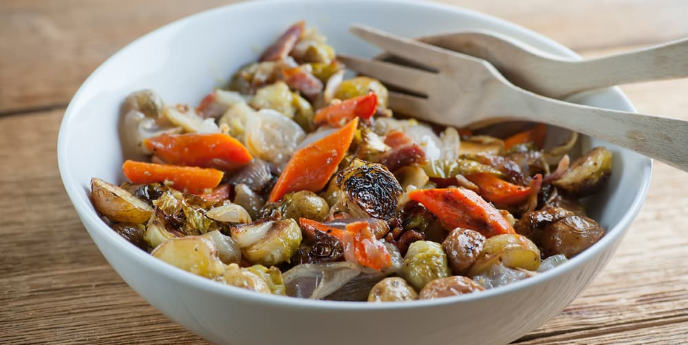 warm roasted fall vegetable salad