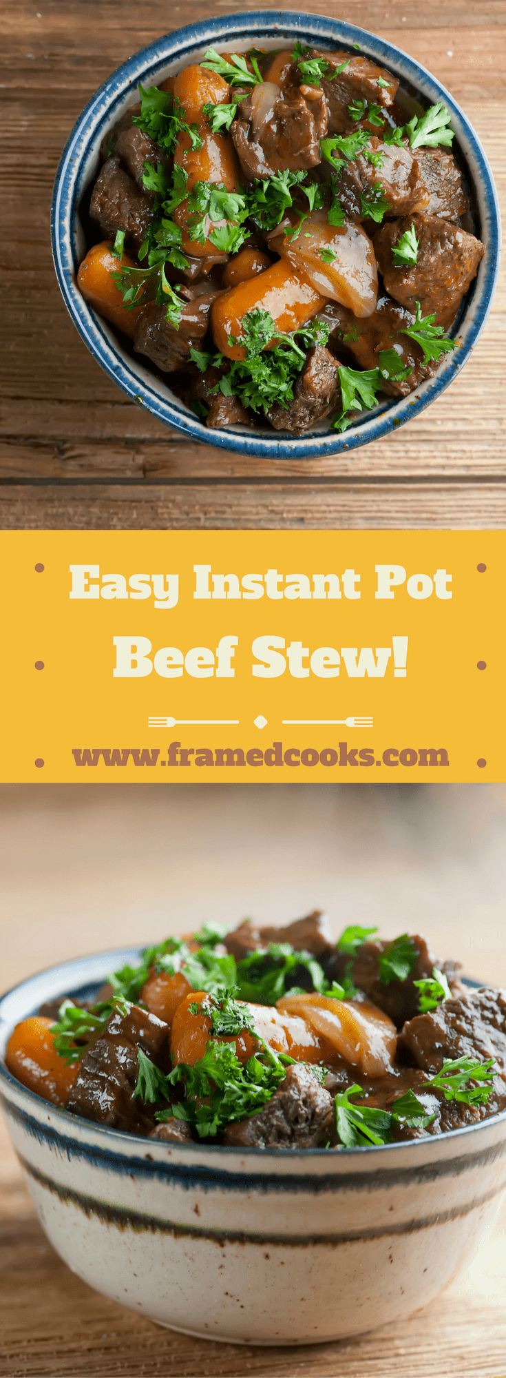 Whip up this classic supper in a jiffy with this recipe for easy Instant Pot Beef Stew.  The rich hearty flavor that everyone loves in pressure cooker form.