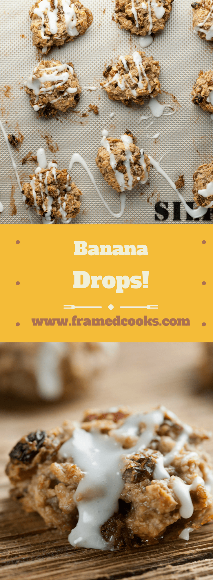This easy recipe for banana drops is a mash-up of bananas and oatmeal raisin cookies, and is the perfect way to use up those ripe bananas!