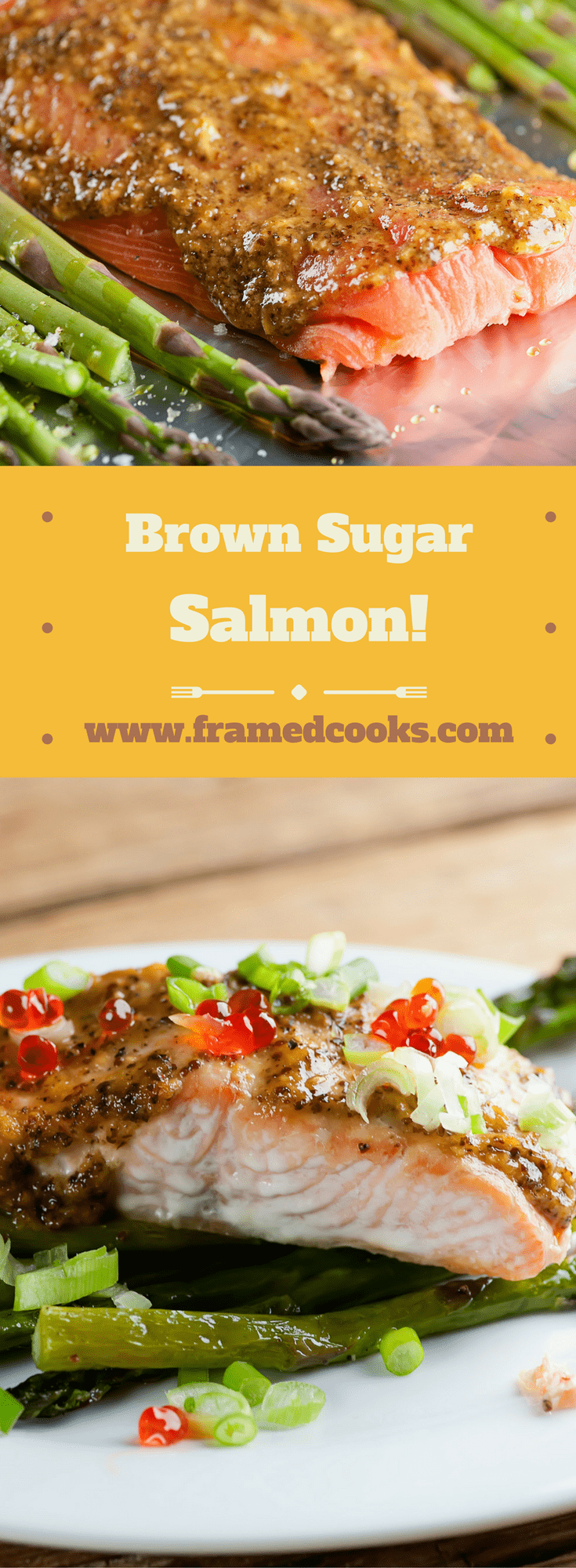 This easy recipe for brown sugar salmon takes just a little bit of sweetness and makes it go a long way.  Get ready for them to ask for seafood seconds!