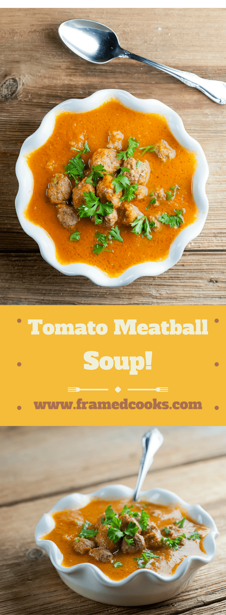 This easy recipe for creamy tomato meatball soup is not only a snap to make, it's also Whole 30 compliant for those of you who are Whole 30-ing!