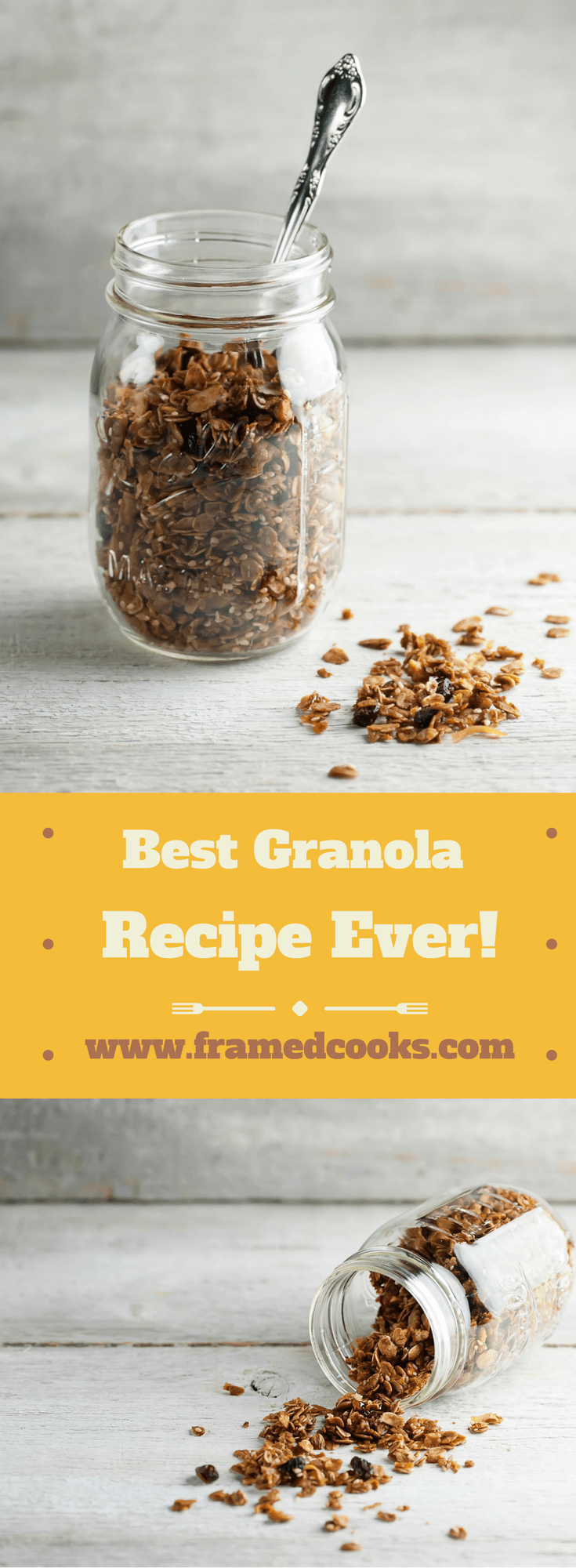 Looking for the best granola recipe ever? You've found it!  Get ready for a delicious breakfast and for your kitchen to smell heavenly.
