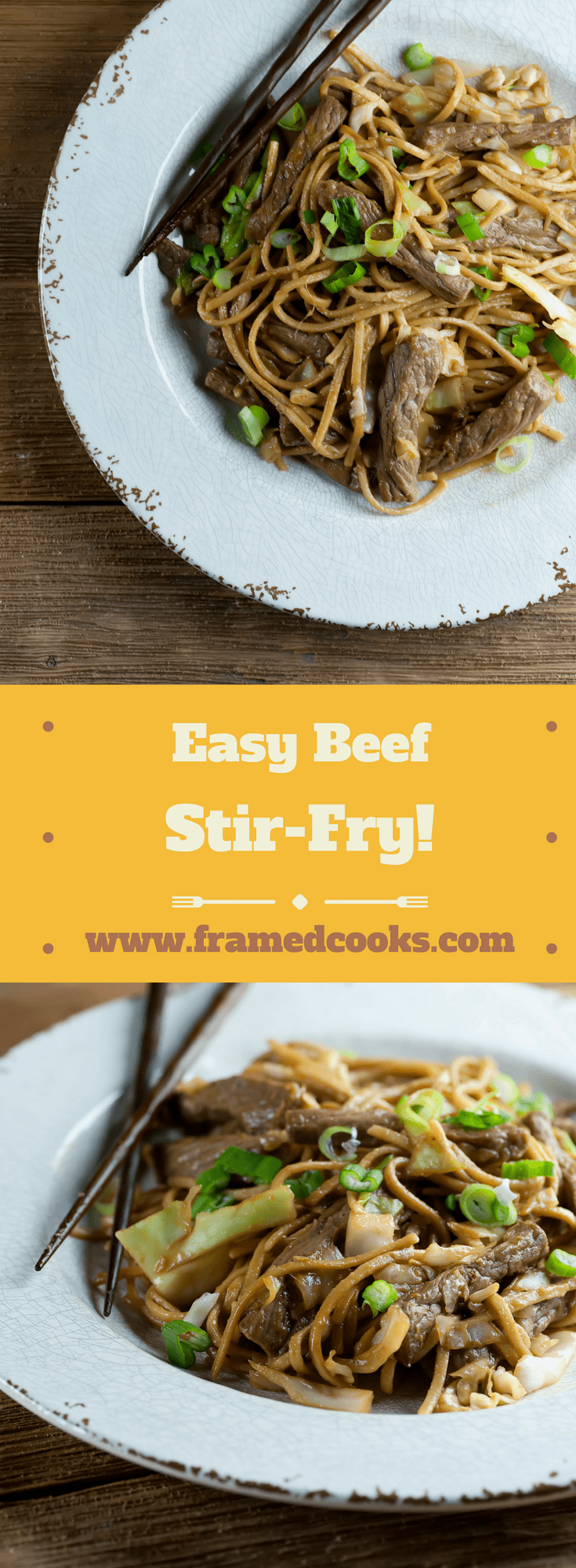 This recipe for easy beef stir-fry is light and quick and full of vegetables, and will make you forget all about that take-out menu at suppertime!