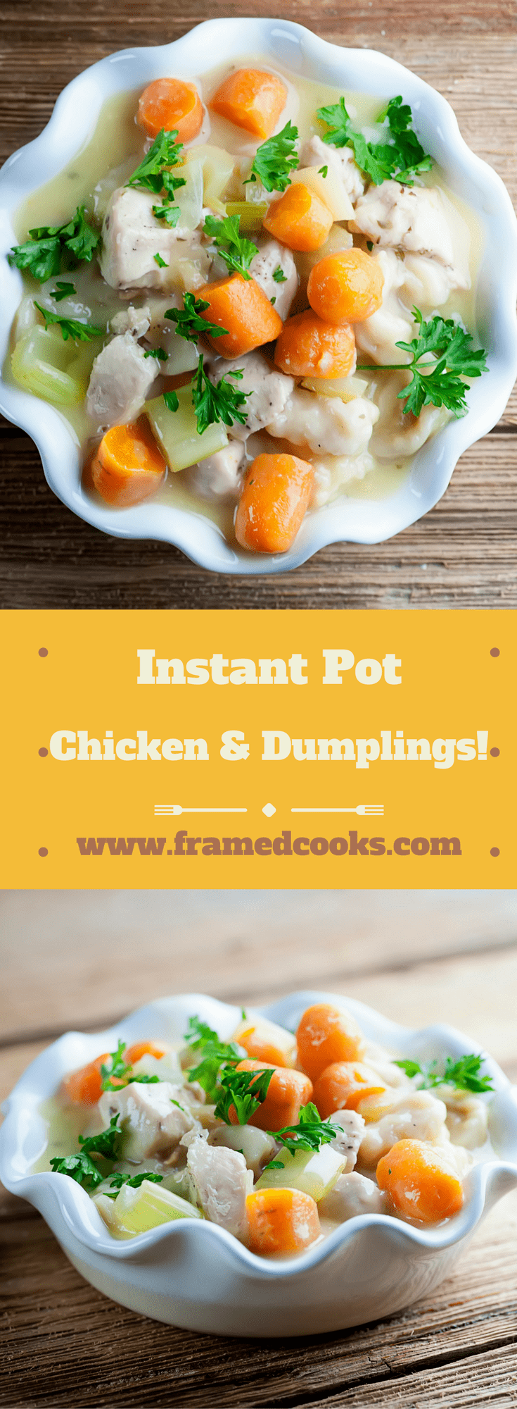 Make this comfort food classic the speedy way with this easy recipe for Instant Pot chicken and dumplings, and have it on the supper table in no time!