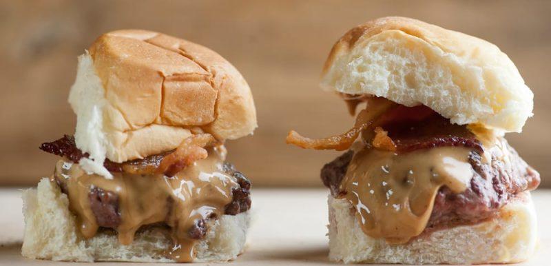 peanut butter bacon sliders