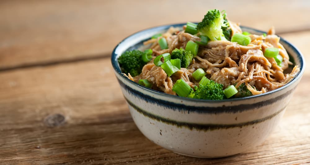 slow cooker bourbon chicken and broccoli