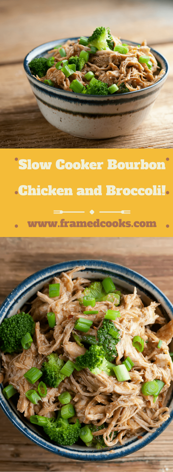 This easy recipe for slow cooker bourbon chicken and broccoli will liven up your usual chicken dinner.  Find that Crock-Pot and sass up your supper!
