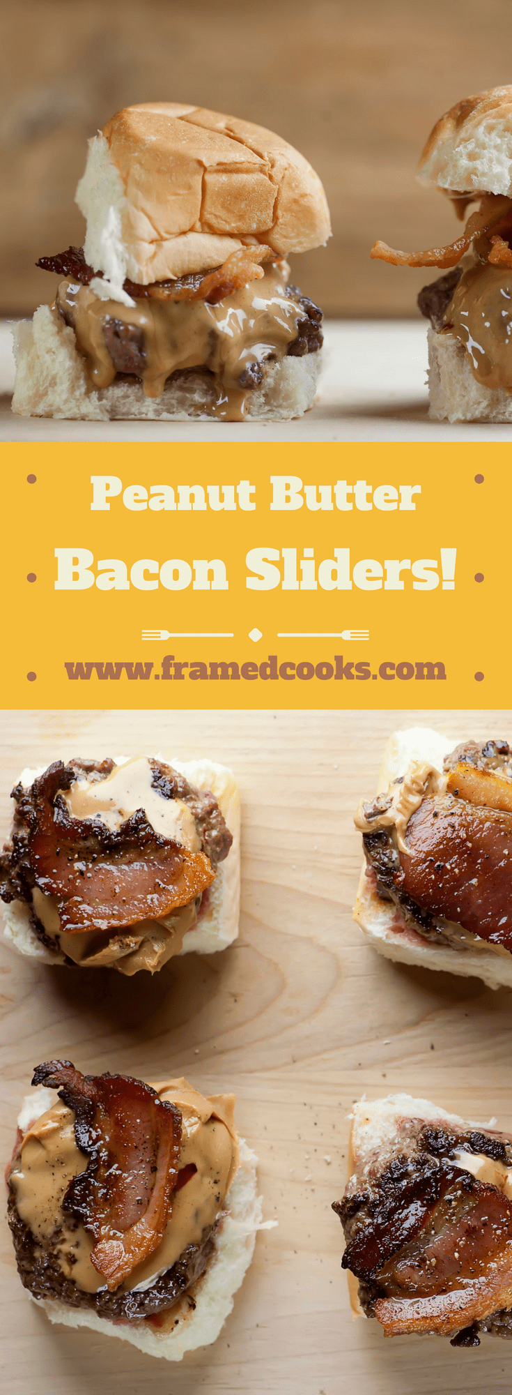 This super simple recipe for peanut butter bacon sliders is yes, an unusual combination of flavors, but I promise it will soon join your favorite burger list!