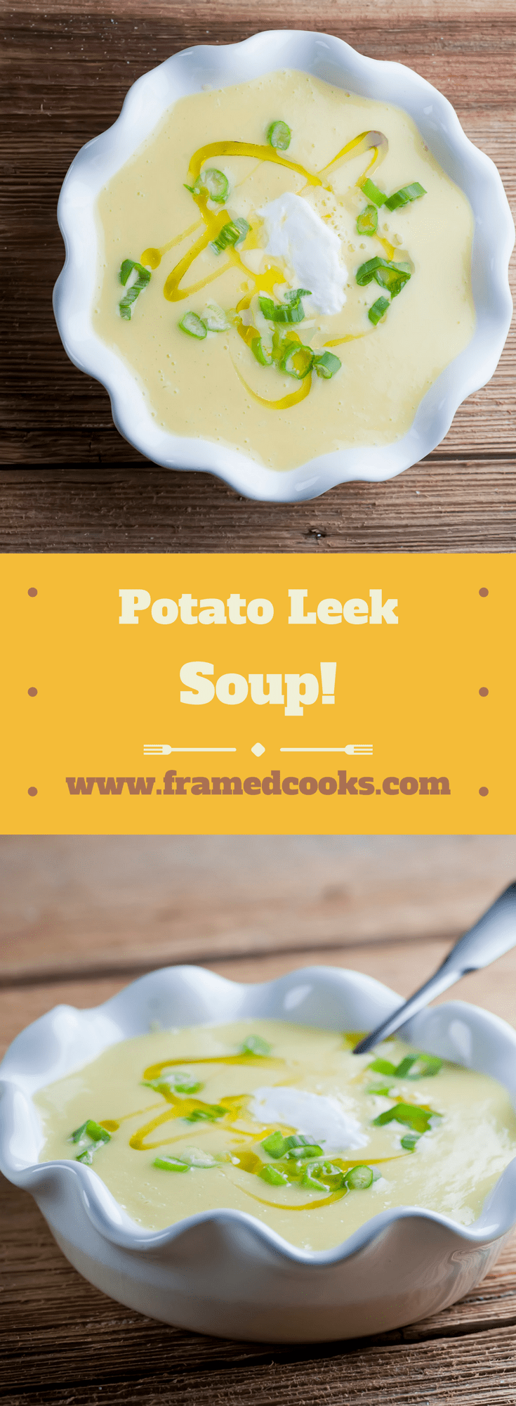 This easy recipe for potato leek soup is a great way to get in some delicious vegetables, all in a hearty, filling, delicious soup. A perfect lunch or light supper!
