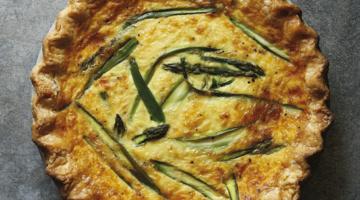 asparagus fontina quiche