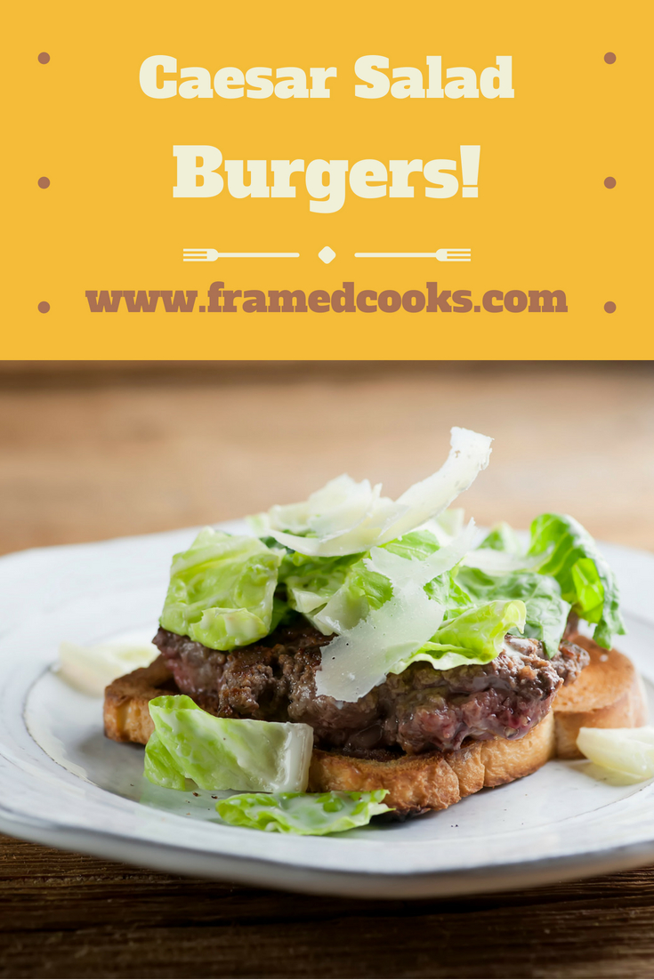 This super simple recipe for open faced Caesar salad burgers takes two of your very favorites and combines them into one delicious supper!