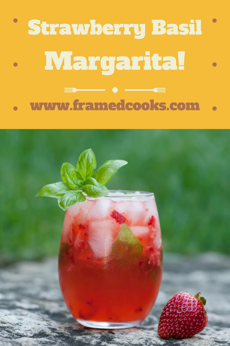 This easy recipe for a strawberry basil margarita puts some fun summer flavors into your favorite cocktail!