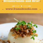 Baked sweet onions with breadcrumbs and Brie