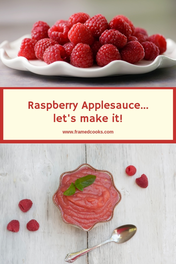 This easy raspberry applesauce recipe adds the sweet flavor of raspberry to homemade applesauce, with no sugar added.  A delicious snack or dessert that the whole family will love!