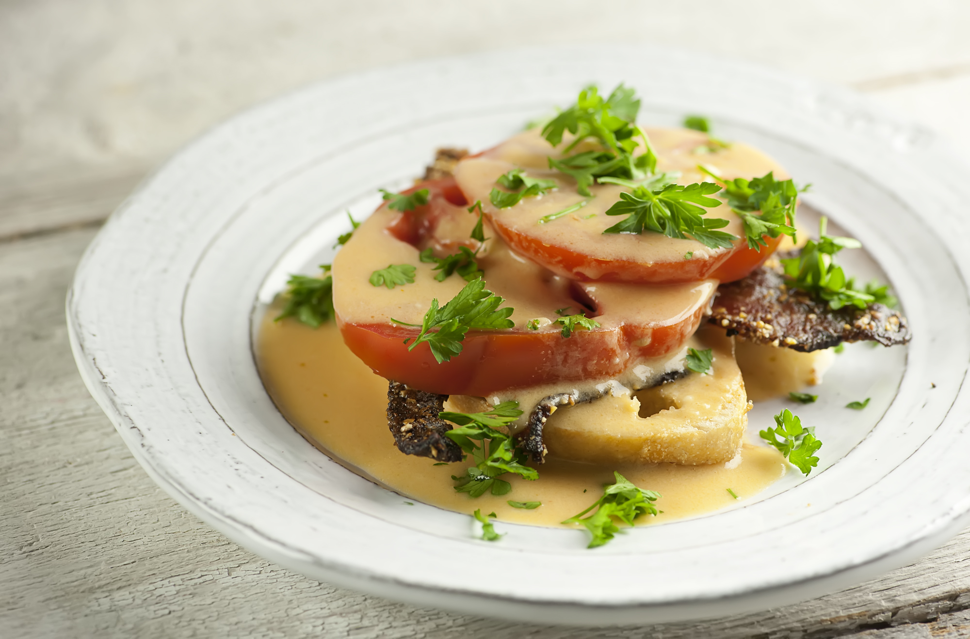 tomato bacon welsh rarebit