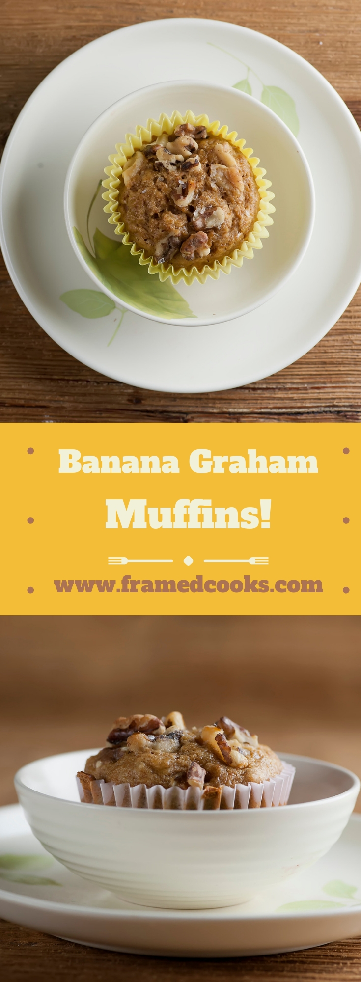 This easy recipe for banana graham muffins takes two of your favorite flavors and turns them into a warm and wonderful muffin!  Perfect for breakfast or snack time.