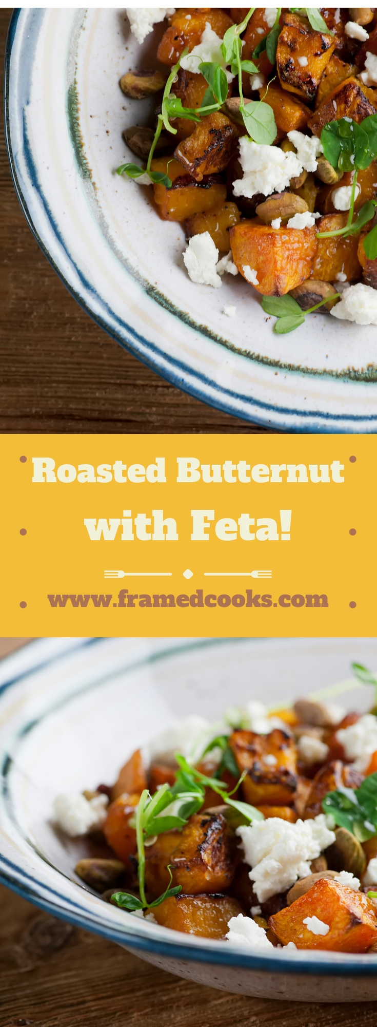 This easy recipe for roasted butternut squash with feta is perfect for your Thanksgiving table, or any time you want a flavorful veggie for supper!