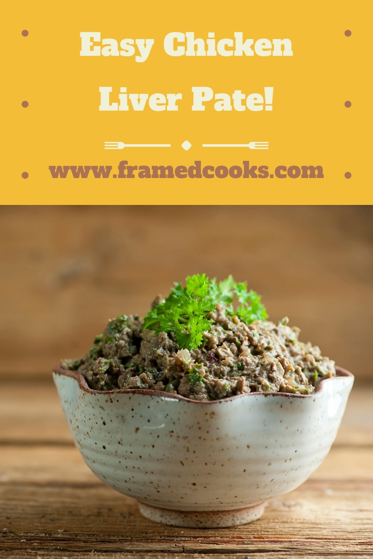 This recipe for easy chicken liver pate is the perfect decadent holiday appetizer - rich, flavorful and just right for spreading on your favorite cracker.