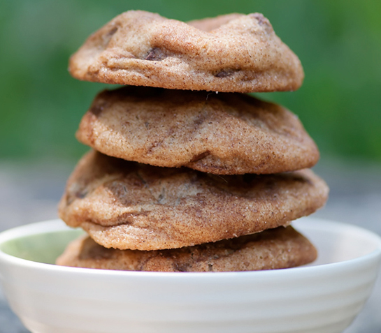 easy cinnamon sugar chocolate chip cookies