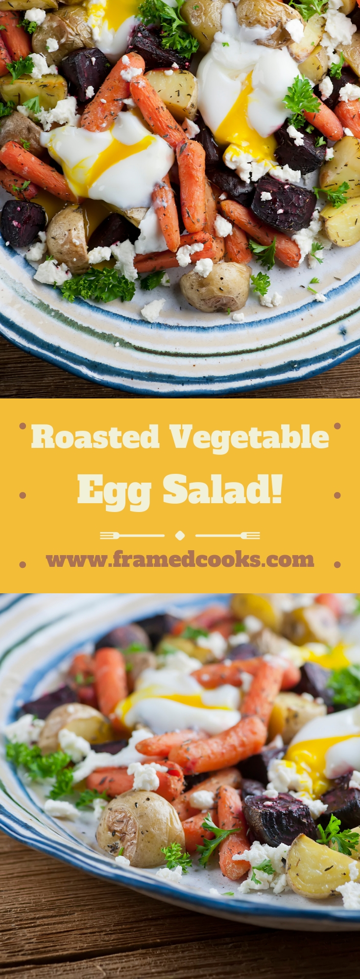 This easy recipe for roasted vegetable egg salad is a hearty variation on this lunchtime favorite, adding warm and healthy roasted veggies!