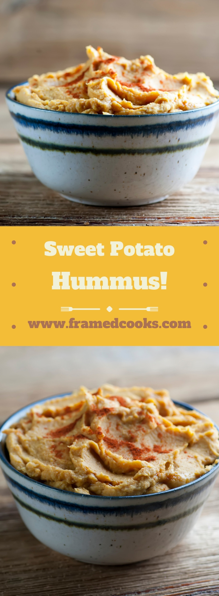 This easy and speedy sweet potato hummus recipe has everything you love about this classic appetizer dip, with the smooth flavor of sweet potato added in!