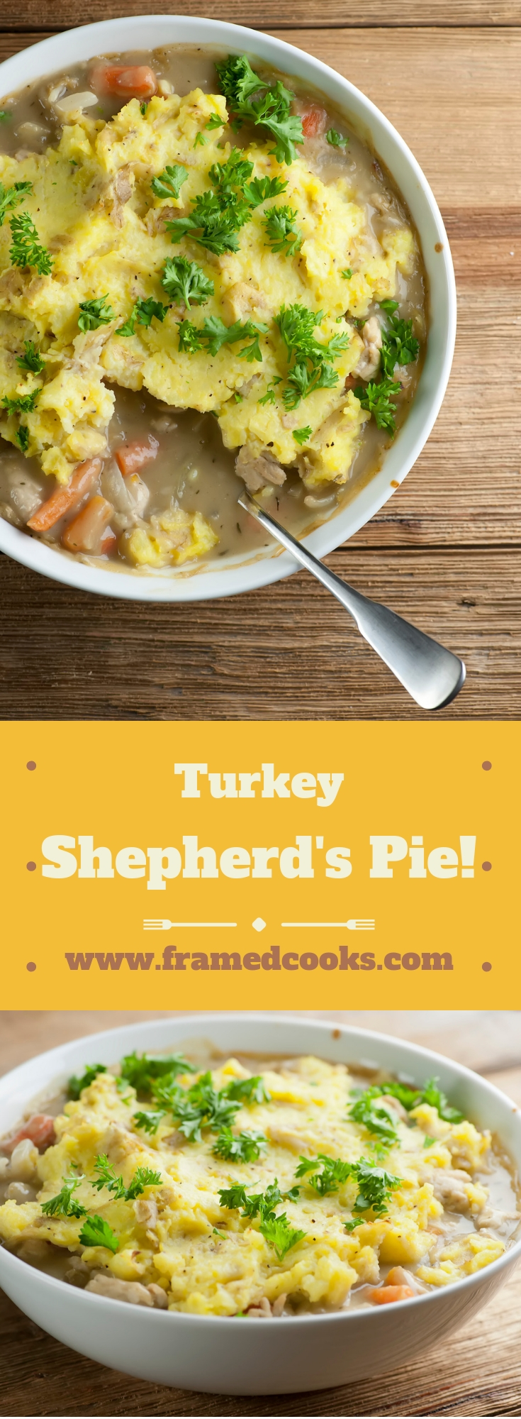 This easy recipe for turkey shepherd's pie is so good that you might not want to wait for the Thanksgiving leftovers to make it!
