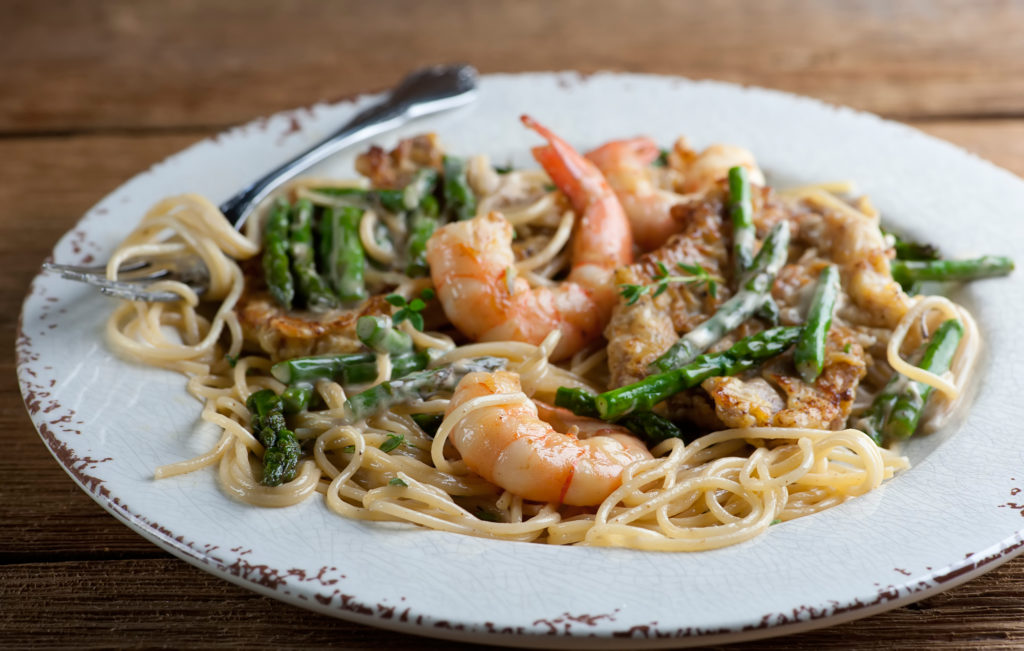 Creamy Shrimp and Veal Pasta