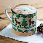mint chocolate chip hot cocoa float