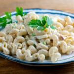 Easy Creamy Mustard Crab Pasta