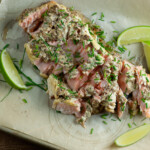 easy mustard lime roasted salmon
