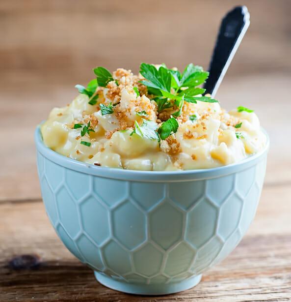 Easy Cauliflower macaroni and cheese
