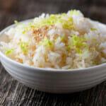 easy sesame lime rice