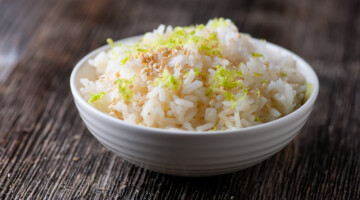 easy sesame lime rice