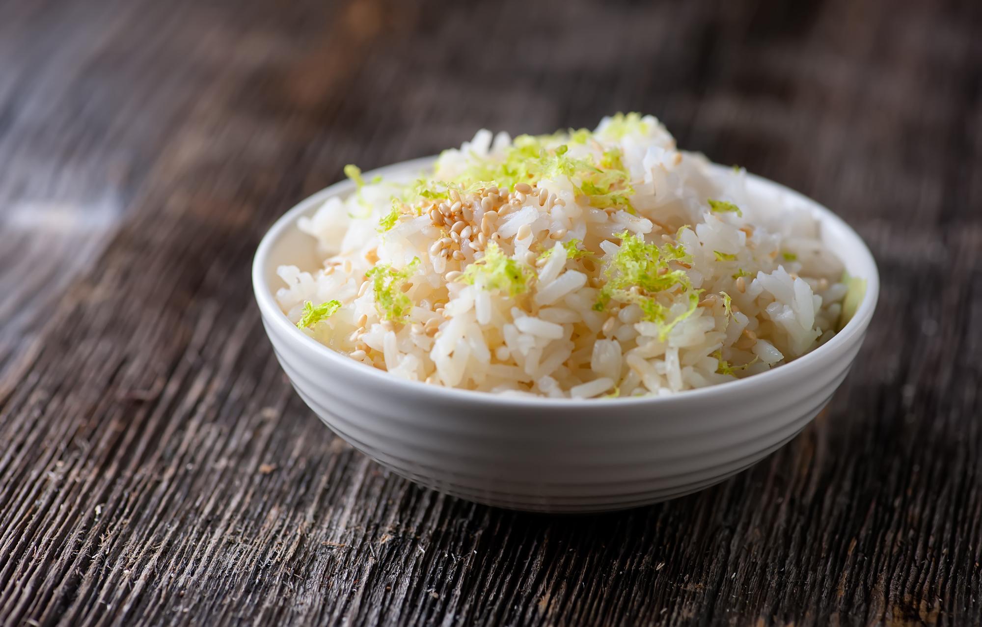 sesame lime rice