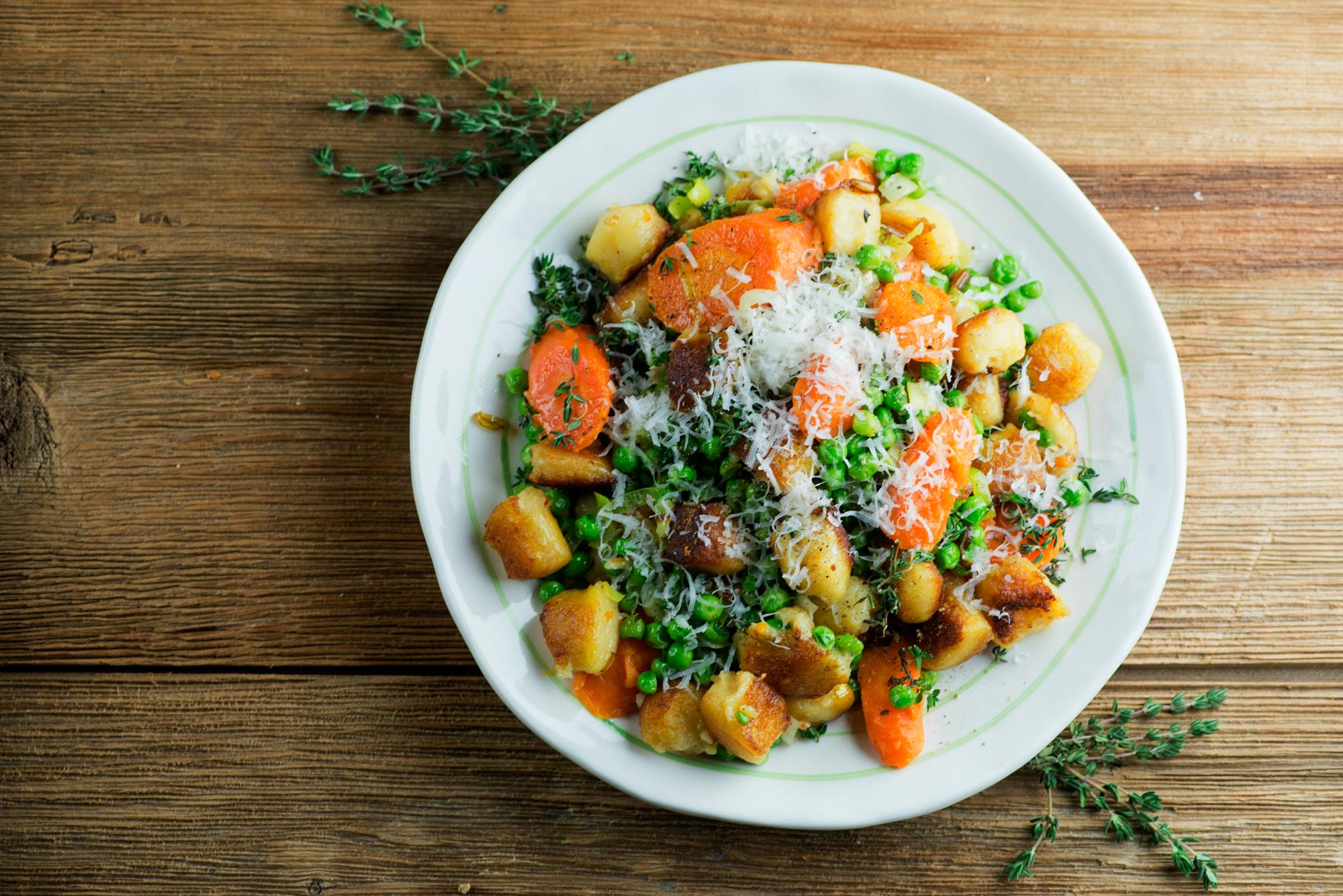 gnocchi with veggies
