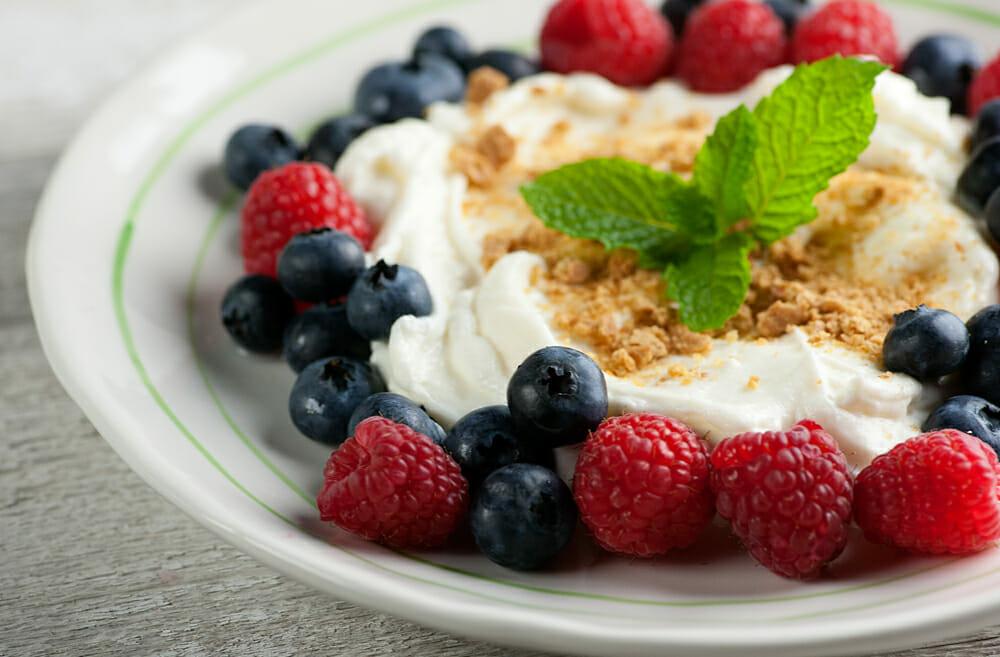 cannoli cream with fresh berries