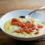 easy tomato mozzarella polenta