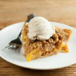easy butterscotch peach pie