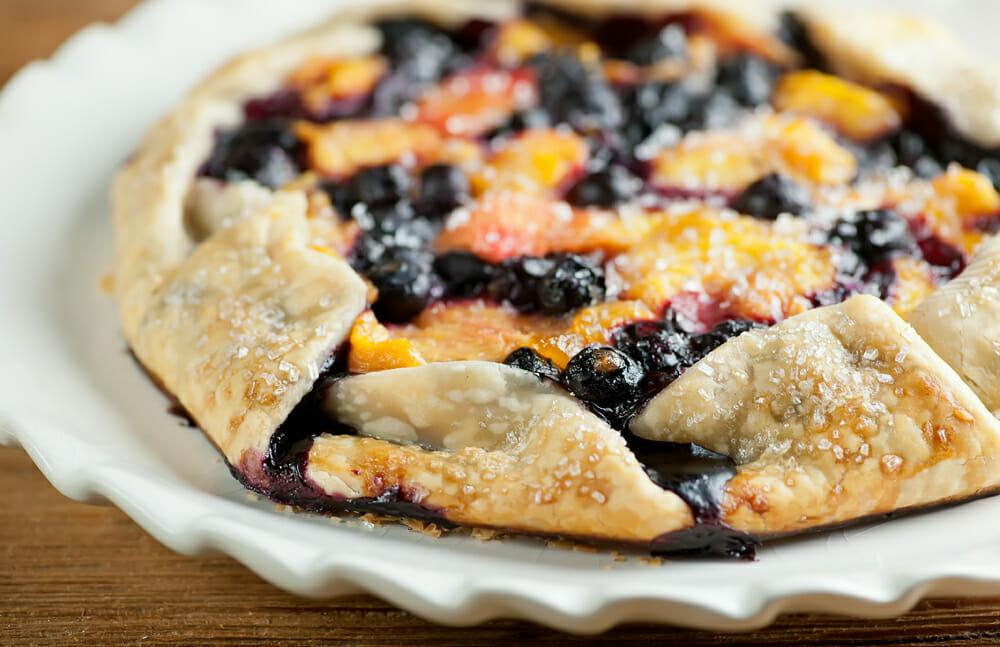 Rustic Blueberry Peach Tart Framed Cooks