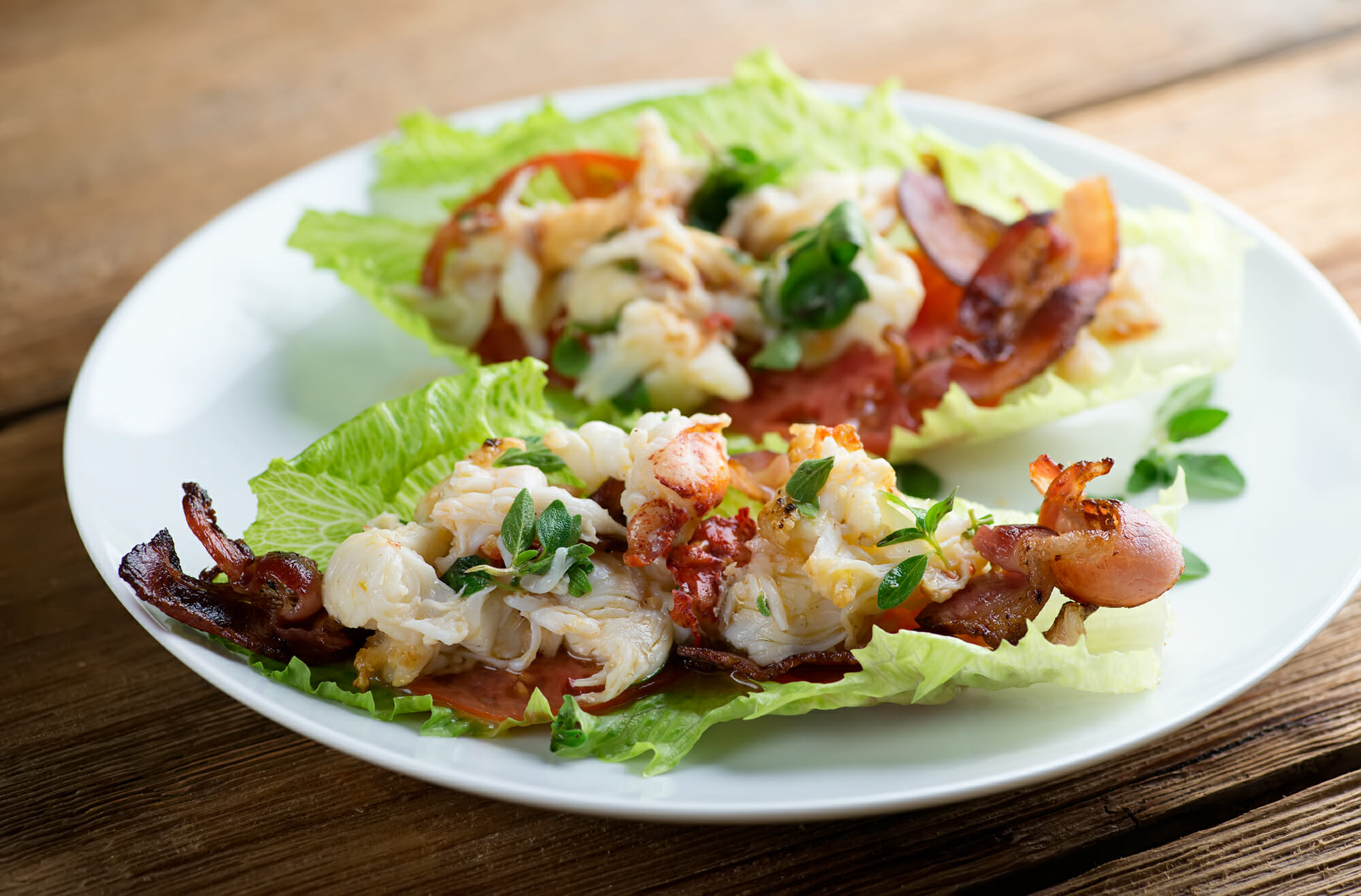 lobster bacon wraps