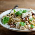 easy bacon crab pasta