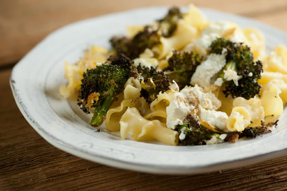 easy sheet pan broccoli ricotta supper