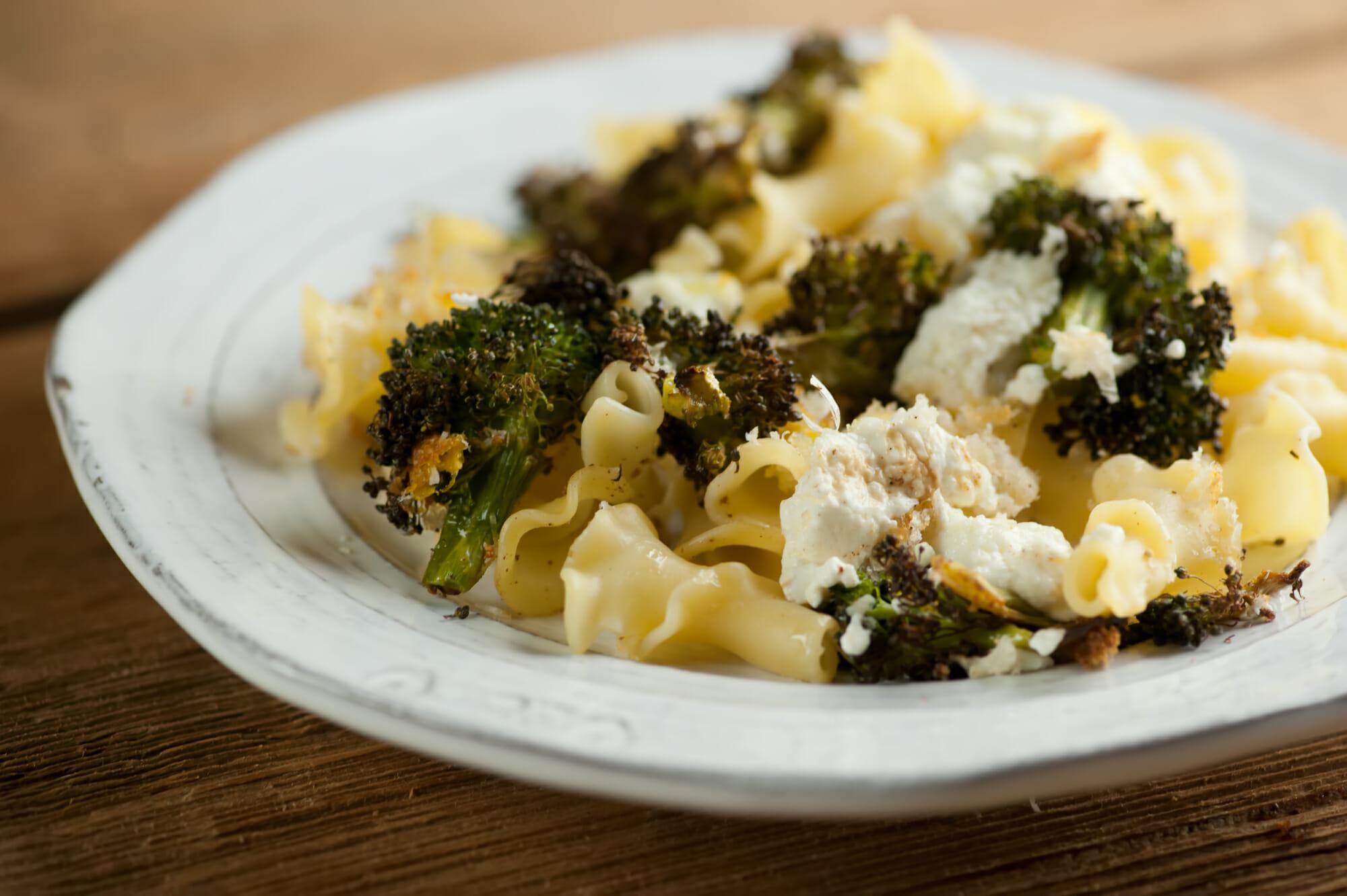 sheet pan broccoli ricotta pasta