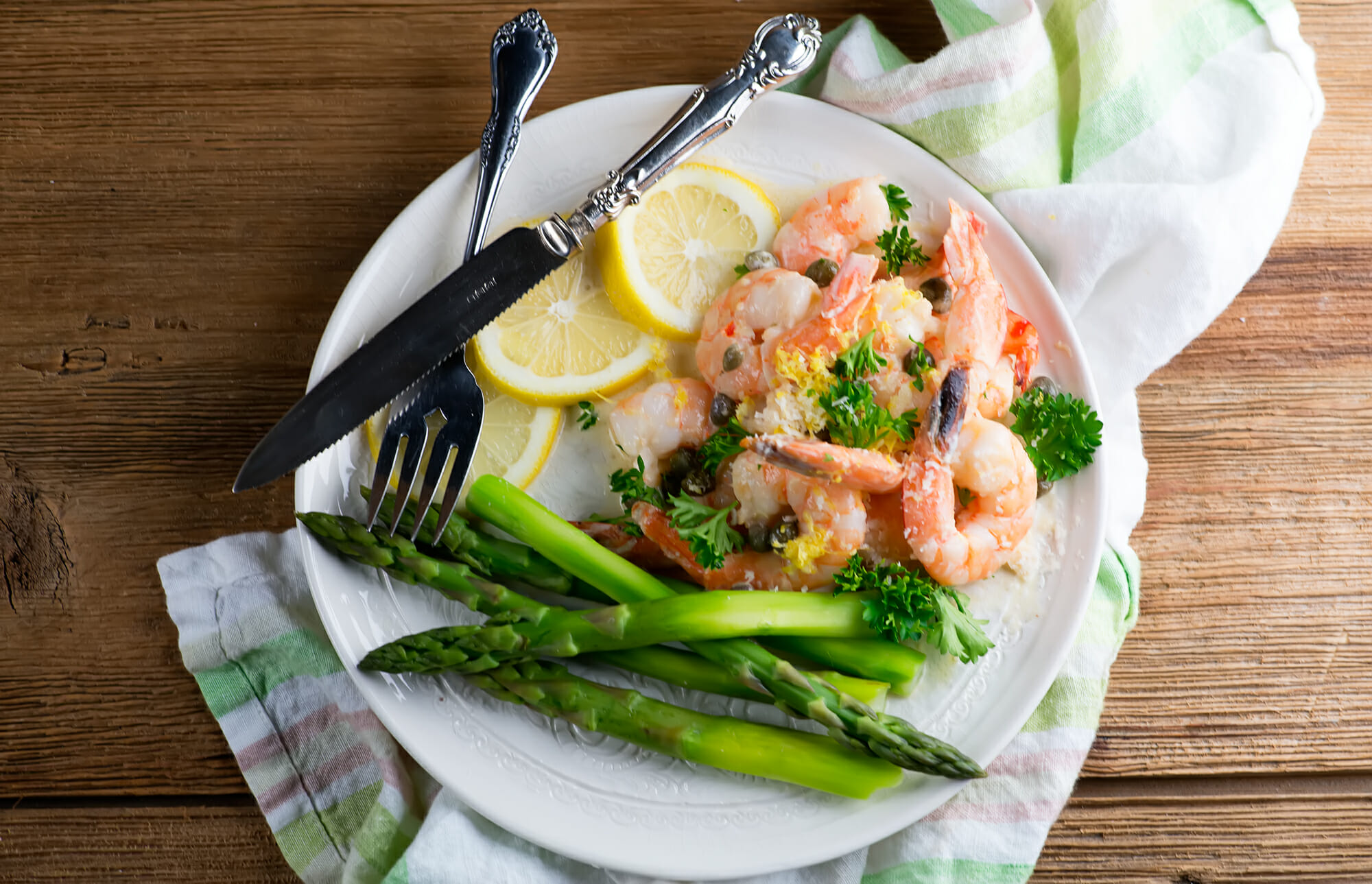 creamy shrimp piccata