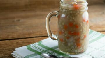 Grandma's leftover turkey soup