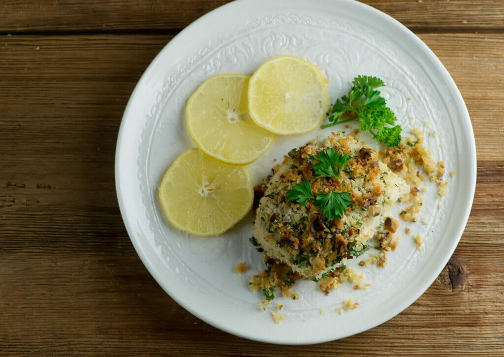 easy walnut crusted halibut