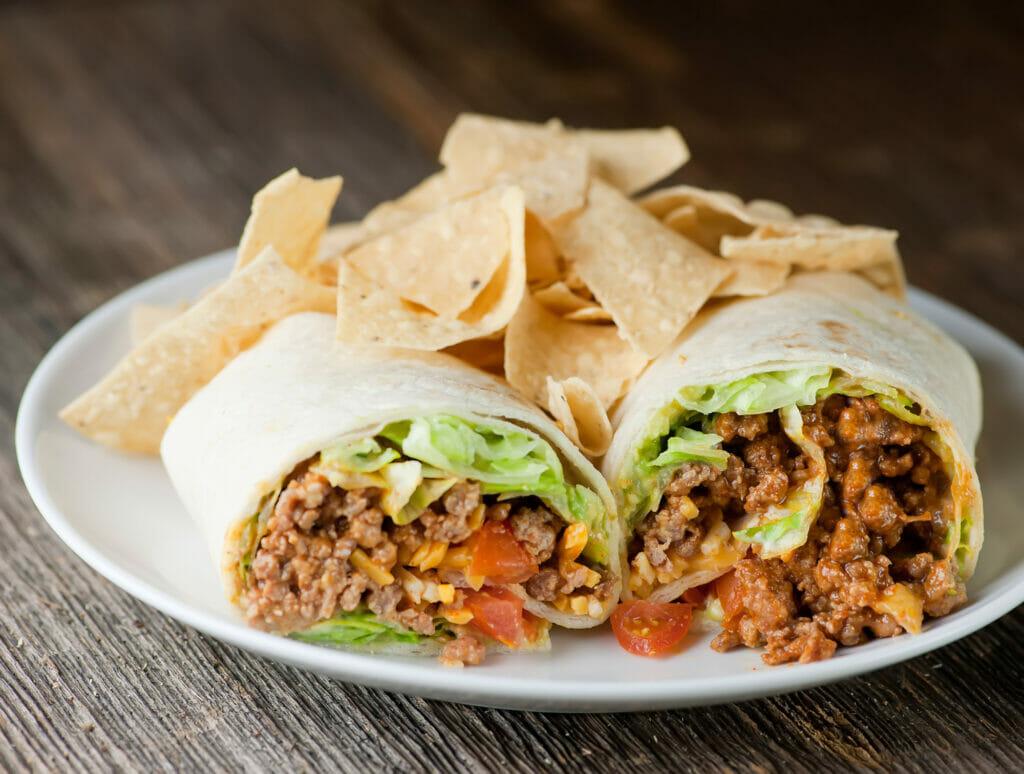 taco wrap sandwiches